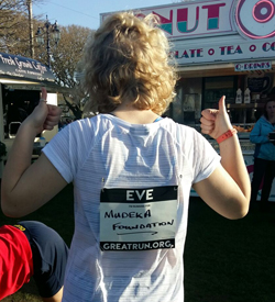 Read more about the article Eve goes the extra (10) miles for the Foundation