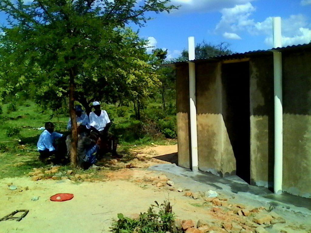 Muda Toilet Block being built